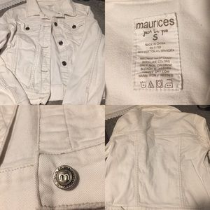 Maurice's white jean jacket size small